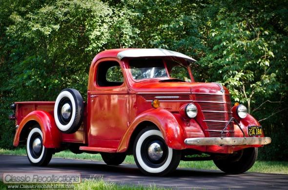 This 1939 International Harvestor pickup has been left unrestored.