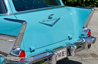 This 1957 Chevrolet 210 wagon owner wanted a wagon with the Bel Air trim.