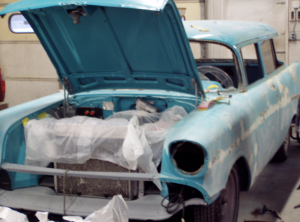 The 1957 Chevrolet 210 wagon recieved a full overhaul.
