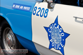 This 1972 Dodge Polara was restored as a recreated Chicago police car.
