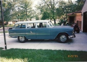 Skip Tubbs restored his 1955 Chevrolet 210 Townsman to drag race.