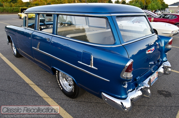 This 1955 Chevrolet Townsman 210 wagon was modified to drag race and cruise.