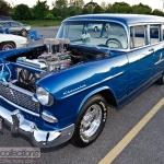 This 1955 Chevrolet 210 Townsman wagon was modfied for drag racing.