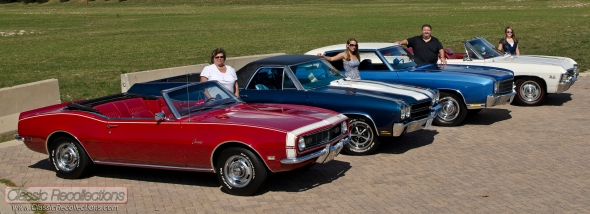 These restored Chevrolet classic cars are owned by a cruising family.