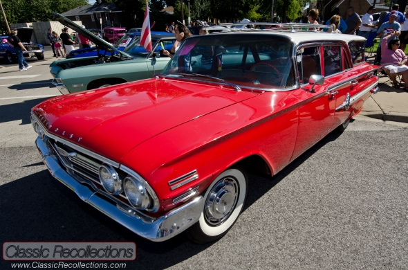 This 1960 Chevrolet Bel Air station wagon was unrestored and caught attention at the 2012 Berwyn Route 66 car show in Chicago Illinois.