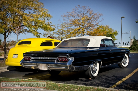 This pair of classic cars took advantage of the warm weather.