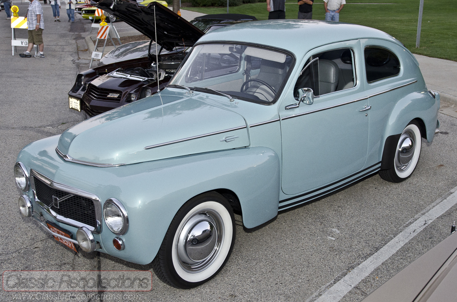 This classic Volvo 544 was restored and found at the 2012 downtown  Palatine, Illinois cruise