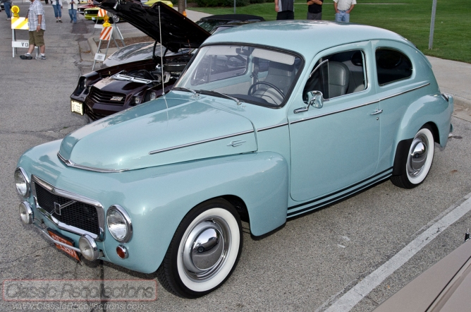 This classic Volvo 544 was restored and found at the 2012 downtown Palatine, Illinois cruise night.
