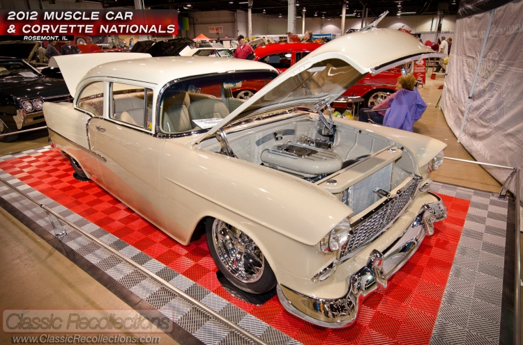 This custom 1955 Chevrolet 210 sedan was on display at the 2012 Muscle Car and Corvette Nationals.