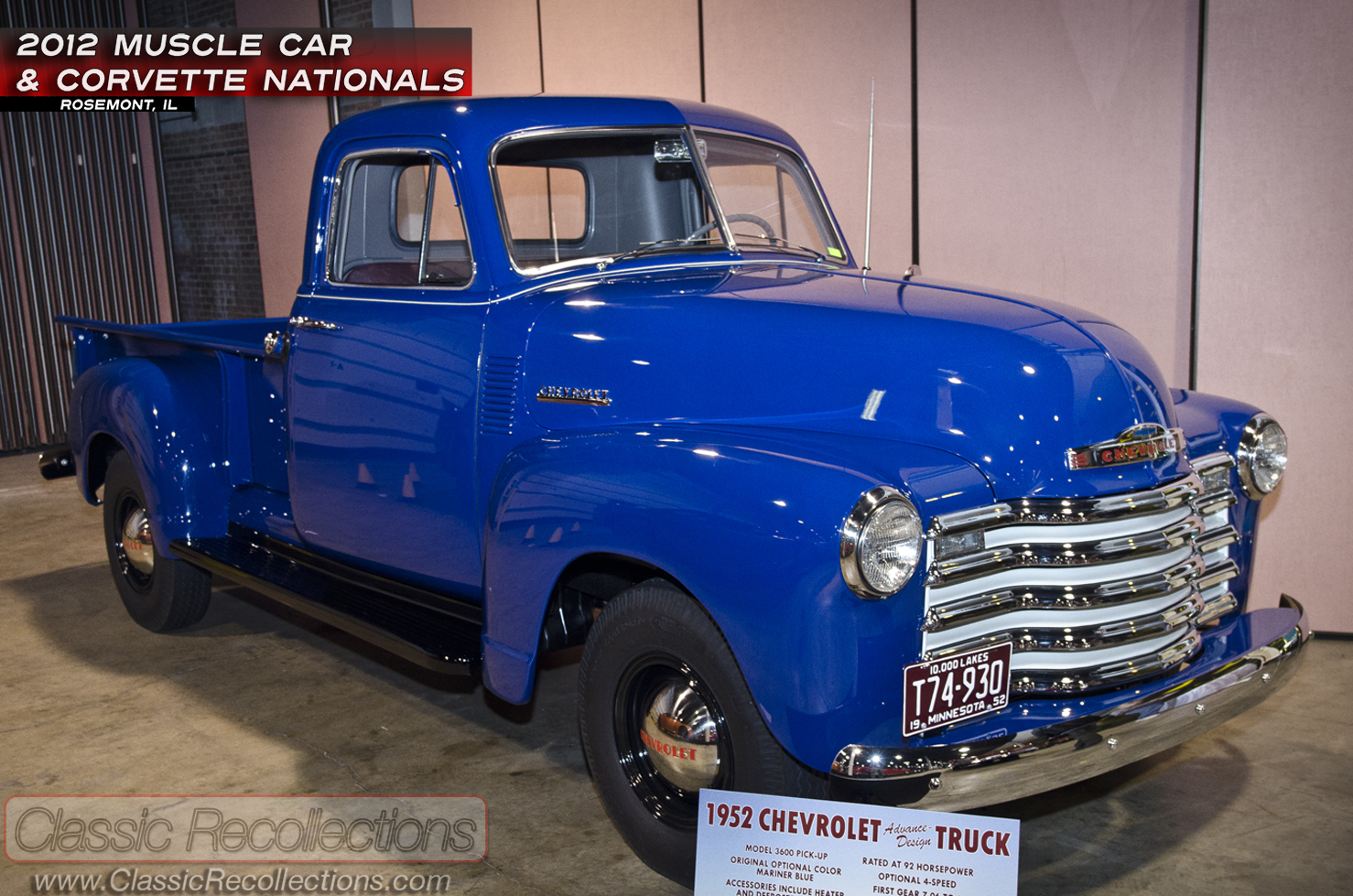 MCACN: 1952 Chevrolet 3600 Pickup Truck  Classic Recollections