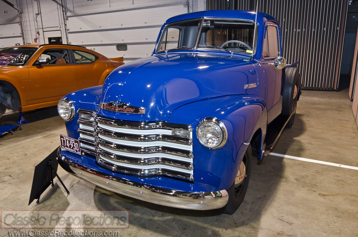 Mcacn 1952 chevrolet 3600 pickup truck classic for Chevy truck with corvette motor