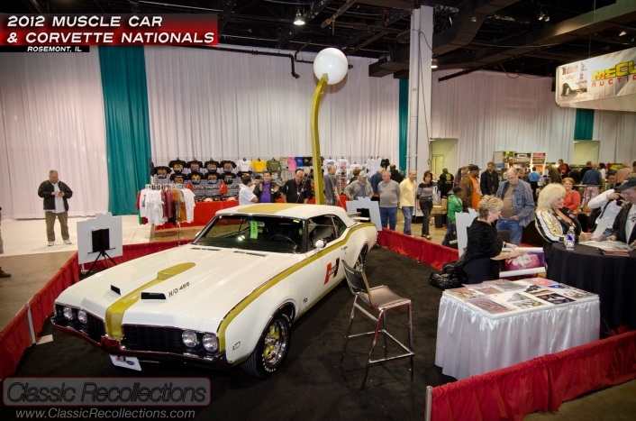The 1969 Hurst Olds, along with Miss Hurst Golden Shifter, Linda Vaughn, were at the 2012 Muscle Car and Corvette Nationals.