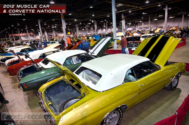 The 2012 Muscle Car and Corvette Nationals show in Rosemont Illinois has on display a wide variety of classic vehicles.