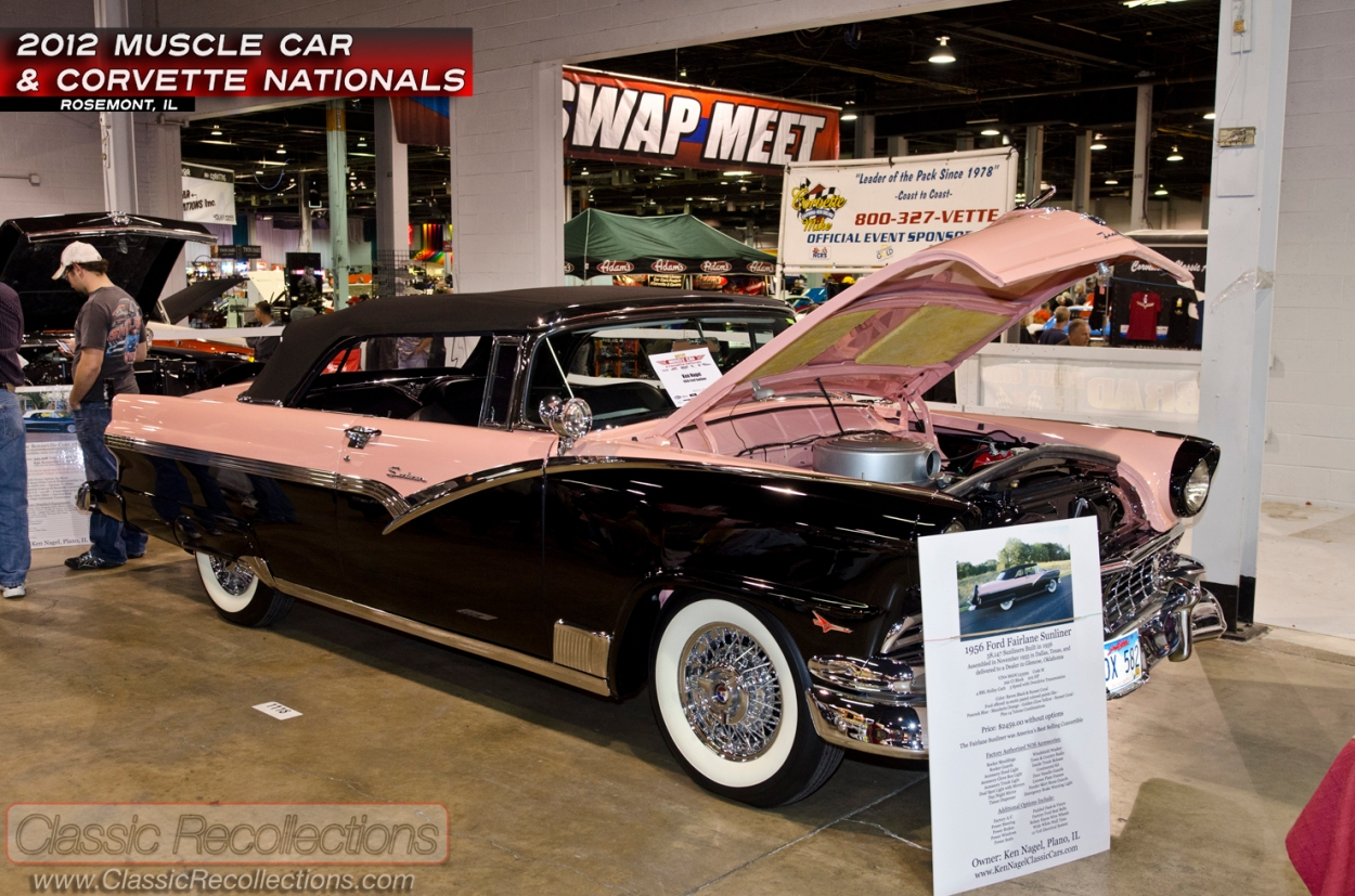 This fully restored 1956 Ford Fairland Sunliner was on display at the 2012 Muscle Car and Corvette Nationals.