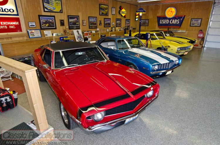 Rich has accumulated a dream collection of muscle 1969 Chevrolet Camaros.z
