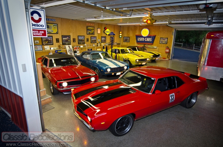 Rich has accumulated a dream collection of 1969 Chevrolet Camaros.
