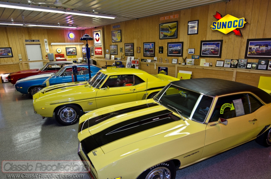 Rich has accumulated a dream collection of muscle 1969 Chevrolet Camaros.