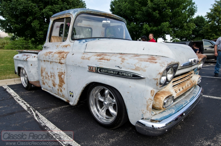 This rat rod 1958 Chevrolet Apache pickup truck was found on an Iowa farm.