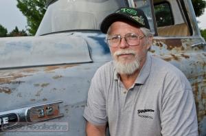 This rat rod 1958 Chevrolet Apache pickup truck was found on an Iowa farm.