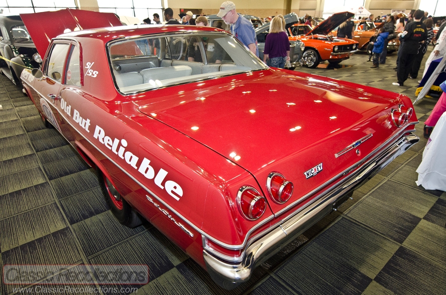 This 1965 Chevrolet Bel Air was on display at the 2013 Custom Rides Car Show and Expo in Tinley Park, Illinois.
