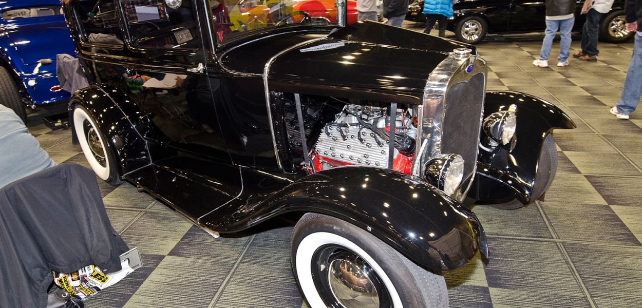This 1930 Ford Tudor was featured at the 2013 Custom Rides Car Show and Expo in Tinley Park, Illinois.
