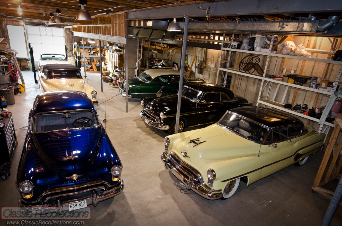 dream garage feature 1950s oldsmobile basement classic recollections. Black Bedroom Furniture Sets. Home Design Ideas