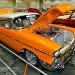 This custom 1957 Chevrolet Bel Air was displayed at the 2013 Custom Rides Car Show and Expo in Tinley Park, Illinois.