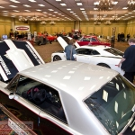 Custom race cars at the 2013 Race and Performance Expo in St. Charles, Illinois.