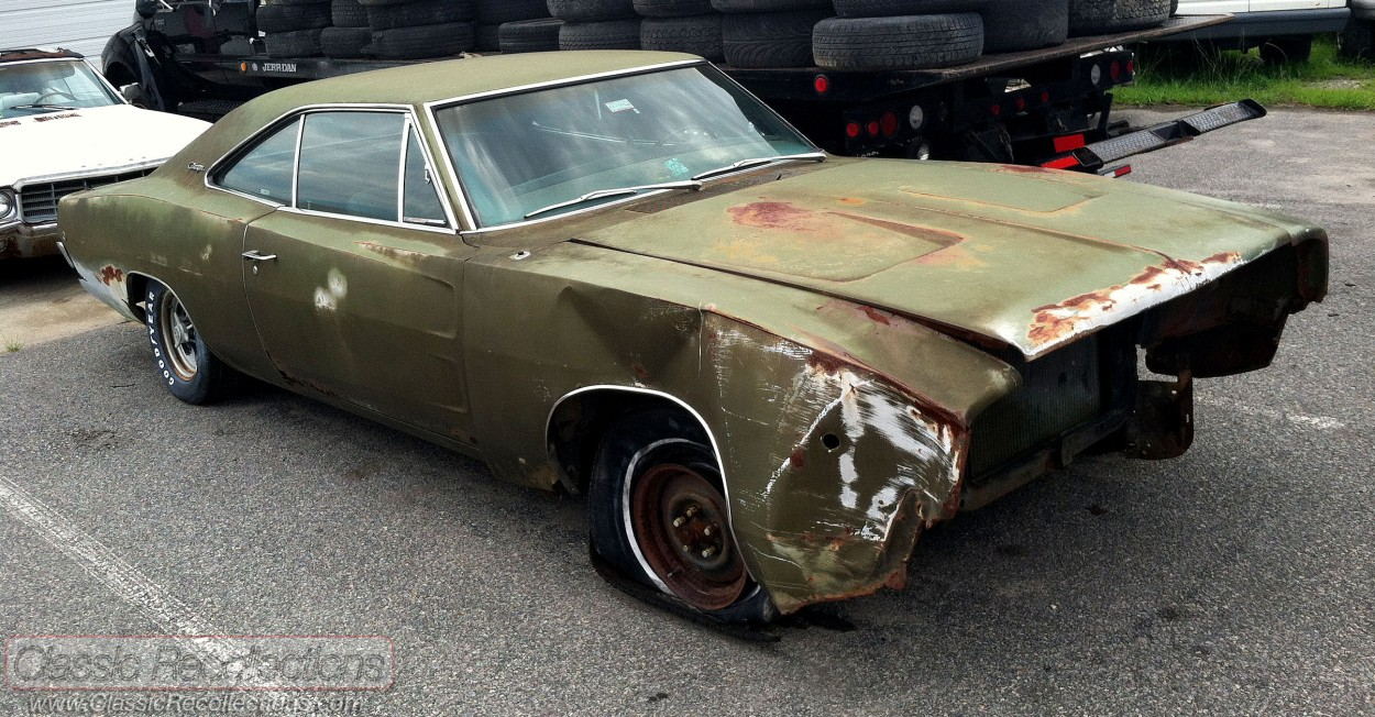Would you restore this wrecked 1968 Dodge Charger musclecar?
