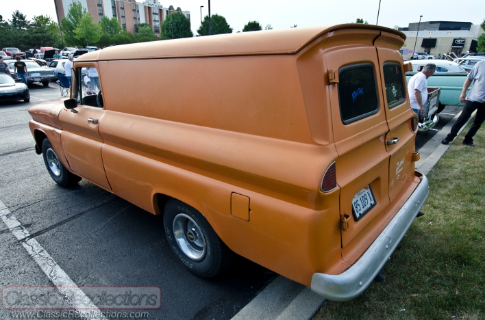 This 1960s Chevrolet panel truck was found at an Itasca, Illinois cruise night.