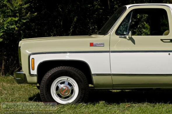 This 1974 GMC 2500 Sierra Camper Special was restored by the original owner's nephew.