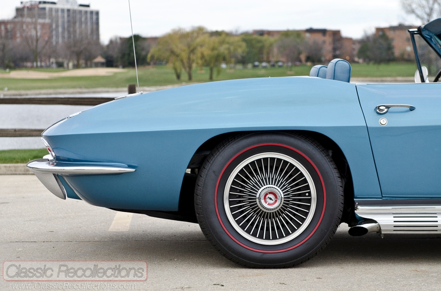 This 1967 Chevrolet Corvette's original 327ci V8 was swapped for a LS-2.