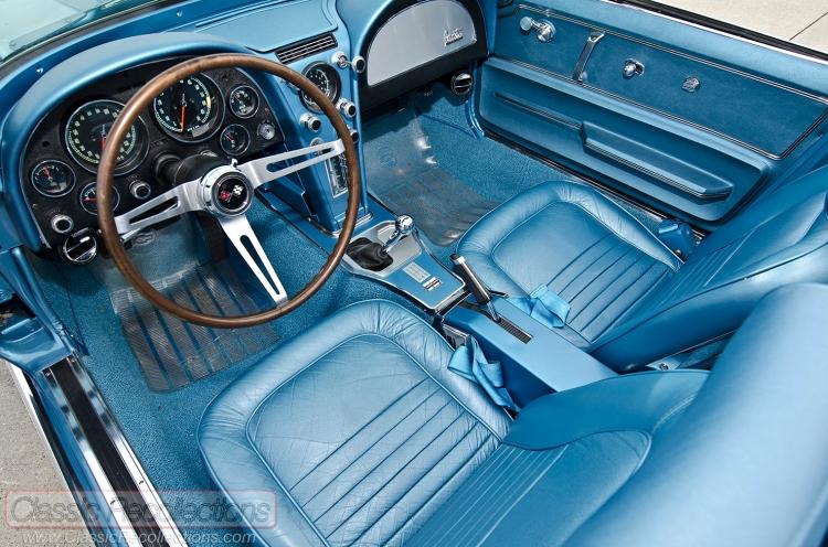 This 1967 Chevrolet Corvette's original 327ci V8 was swapped for a LS-2.