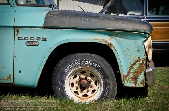 This 1963 Dodge D200 pickup truck is a movie prop from the summer 2013 Superman film, 'Man of Steel'.