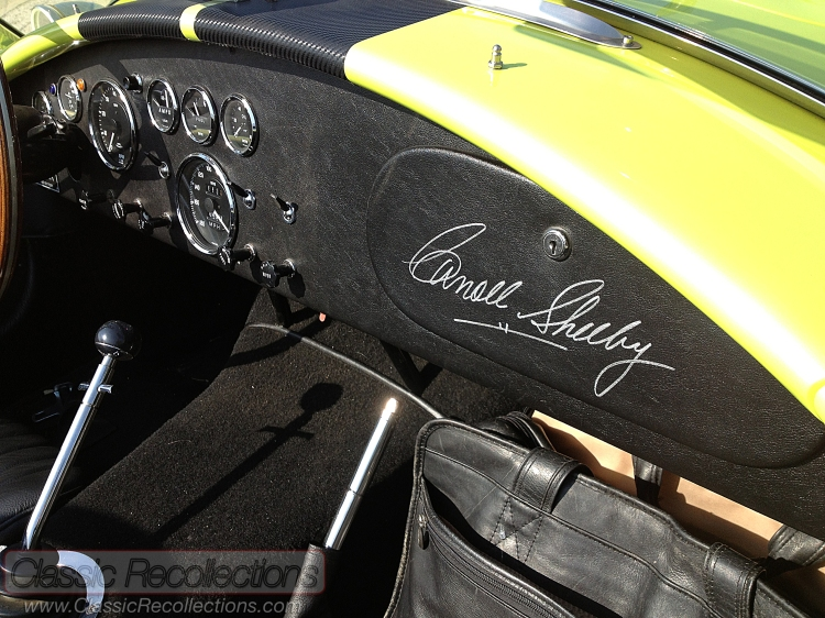 This 1965 Shelby Cobra replica has a 427ci V8 and is signed by legend Carroll Shelby.