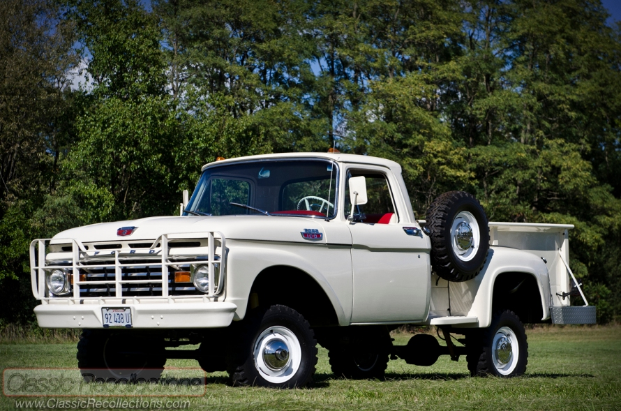 This 1963 Ford F100 4X4 was restored and sold at Barrett Jackson.