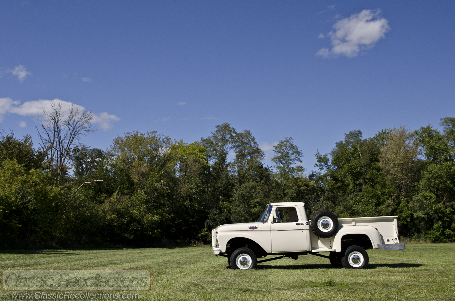 Feature 1963 Ford F100 44 Classic Recollections 1955 Lifted This 4x4 Was Restored And Sold At Barrett Jackson