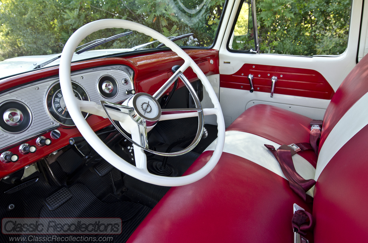 Feature 1963 Ford F100 44 Classic Recollections 1955 Interior This 4x4 Was Restored And Sold At Barrett Jackson