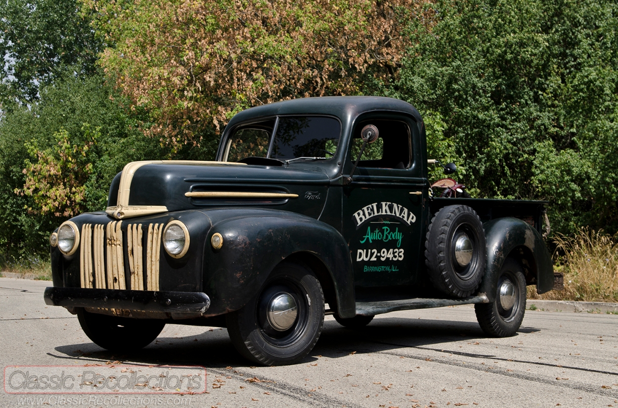 This 1947 Ford pickup was left unrestored. It was found in Cary, Illinois.