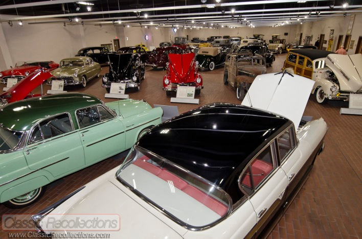 Classic Hudson automobiles on display at Hostetler's Hudson Auto Musuem in Shipshewana, IN.