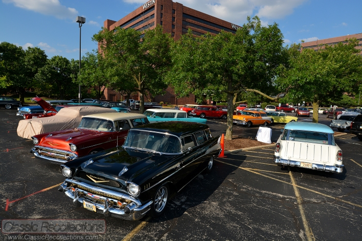 Classic Chevrolet Nomads parked at the 25th Chevrolet Nomad Association's convention in Itasca, IL.