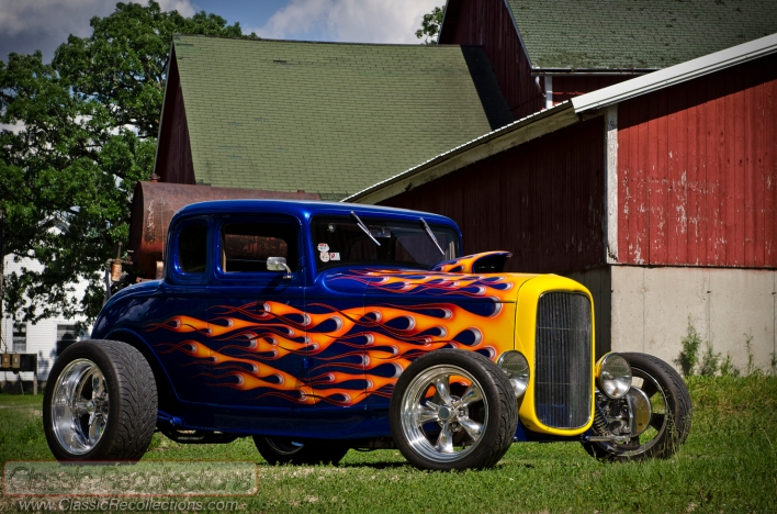 This custom 1932 Ford coupe was customized by Lee Getzelman.