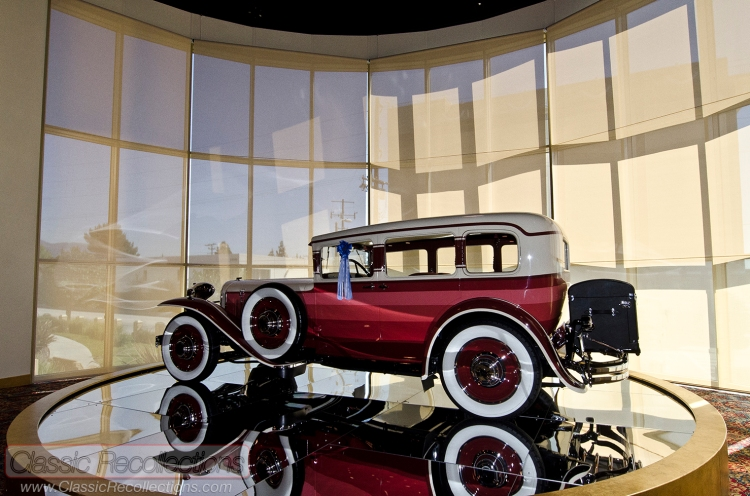 Classic and antique cars on display at the Nethercutt Collection in Sylmar, California.