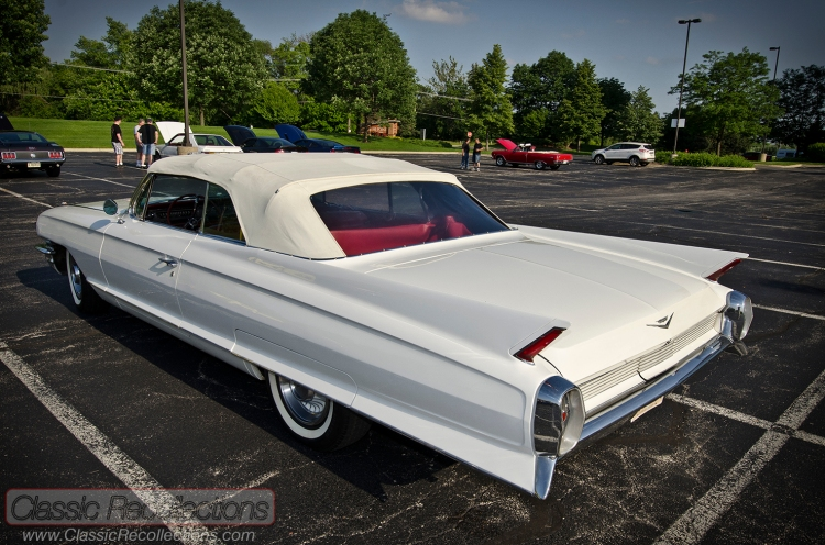 This 1962 Cadillac Series 62 convertible was parked at the 2013 Itasca, Illinois cruise night.