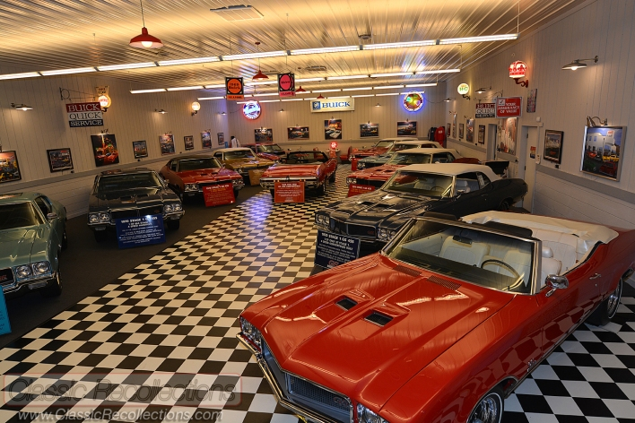This dream garage is full of classic Buick Stage 1 musclecars.