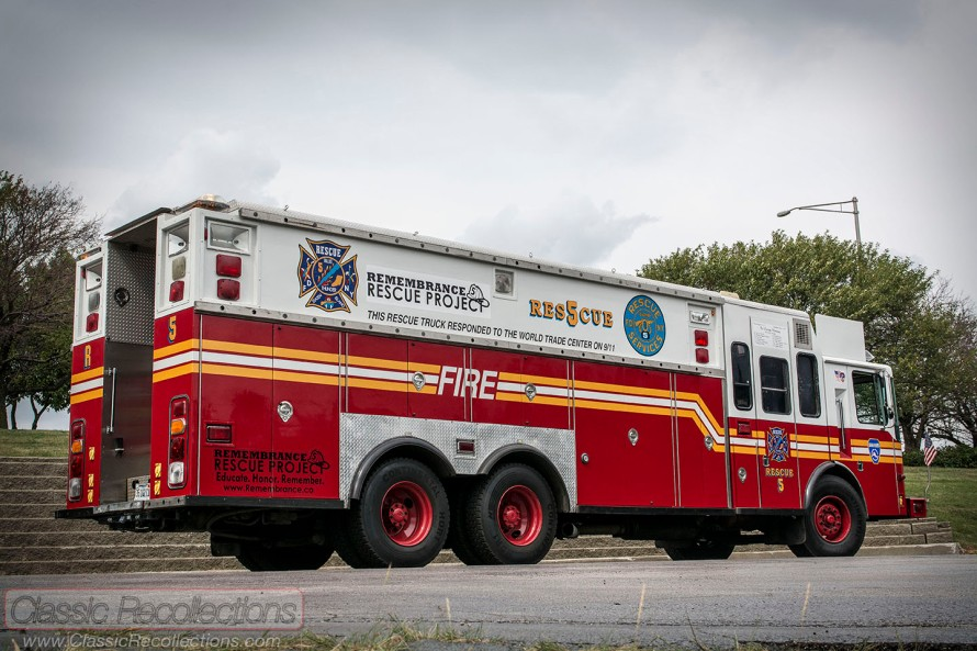 This 1996 HME Saulsbury Rescue 5 responded to the World Trade Center on Sept. 11th, 2001.