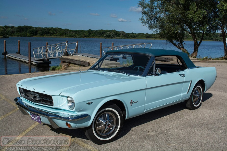 This 1964 Ford Mustang was the first Mustang sold. It was sold to Gail Wise in Chicago, IL.