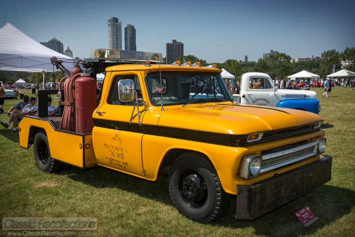 This classic 1964 Chevrolet C10 pick up truck was used as a tow truck at Black Hawk Farms Raceway.