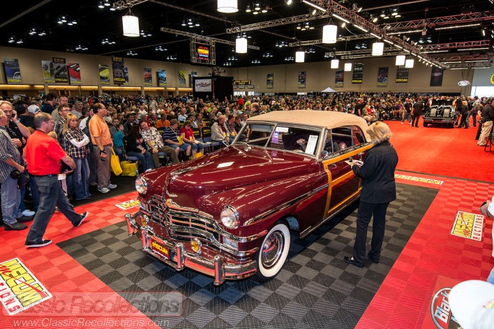 Classic, collector and muscle cars rolled across the auction block at the 2013 Mecum Auction in Schaumburg, Illinois.