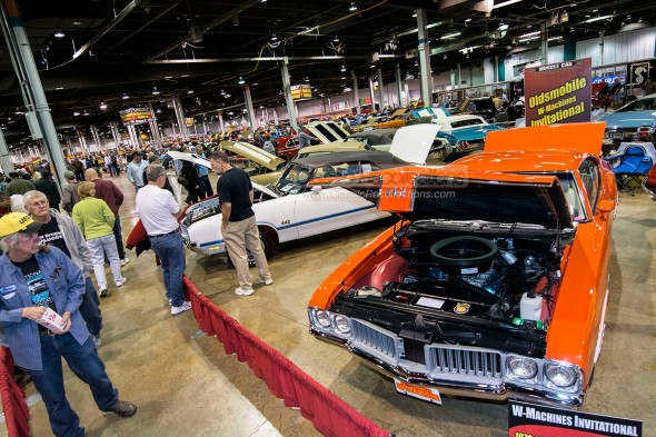 Classic and muscle cars on display at the 2013 Muscle Car and Corvette Nationals.